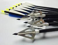 New Archery 31'' Aluminum Arrows Completed Arrow & 100Grain Hunting Broadheads