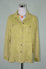 Chico ' s pour femme vintage rétro 90 S Casual en daim synthétique Look Chemise Verte Veste Sz XL LW