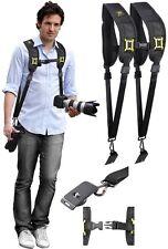 Dual Shoulder Neck Strap For Canon EOS Rebel T6 80D 70D 1Dx II M2 6D