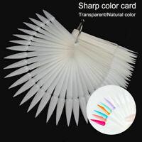 False Nail Art Polish Gel Art Tip Sample Practice Display Fan Swatch Holder Kit