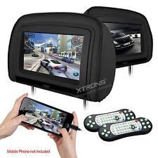 """HDMI 2x Auto Kopfstütze DVD Player Kissen 9"""" LCD Monitor 1080P Video Spiel USB"""
