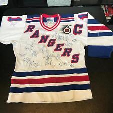 Wayne Gretzky 1990's NY Rangers Team Signed Authentic Jersey 25 Sigs JSA COA