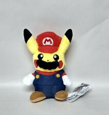 """Super Mario Pikachu Plush Doll BANPRESTO Approx 9"""" NEW in USA"""