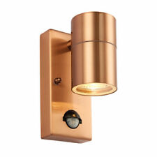 SAXBY 70433 PALIN COPPER STAINLESS GU10 WALL DOWN LIGHT PIR IP44