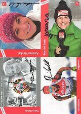 4 Autogramme Biathlon Martina Beck Petra Behle Benedikt Doll Henkel LOT xyz 18-1