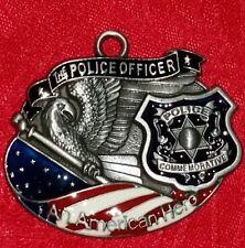 "THE POLICE OFFICER - POLICE AMERICAN HERO COMMEMORATIVE PENDANT - 1 3/4"" X 1/34"""