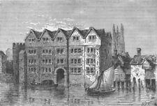 UPPER THAMES STREET. Cold harbour. London c1880 antique print picture