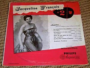 """Jacqueline François №2 - Chante… Avec  Orchestres - 1953 Philips 10"""" LP"""