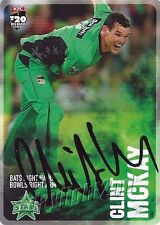 ✺Signed✺ 2014 2015 MELBOURNE STARS Cricket Card CLINT MCKAY Big Bash League