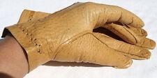 GANTS CUIR FEMMES CHEF cuir gants motif camel beige 7,5