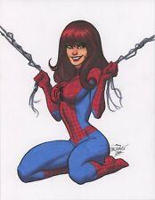 Sexy Mary Jane Venom Amazing Spider-Man original art Scott Dalrymple