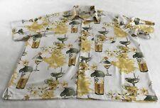 Mojito Collection Sz 3X Button Front Shirt Mojito Drinks Print Hawaiian Tropical