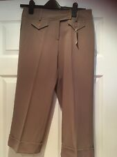 Women's New Todays Woman Smart Cropped Light Brown Trousers