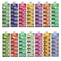 10pcs AG0-AG13 LR69,LR621,LR726,LR43,LR44 1.5V Coin Cell Alkaline Battery