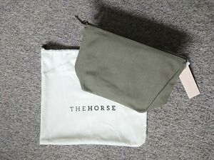 Canvas Travel Wash Bag Olive (The Horse) - brand new in original packaging