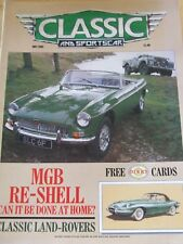 CLASSIC AND SPORTSCAR MAY 1989 MGB RE-SHELL CLASSIC LAND-ROVERS HILLMAN AUSTIN