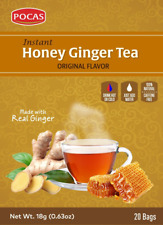 Instant Honey Ginger Tea Original 20 Tea bags - Pocas