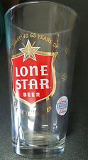 "Lone Star 16oz glasses ""Celebrating 65 years Special Certified Edition"" Set of 4"