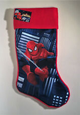 "Plush Christmas Marvel Spiderman Stocking - Blue 18"" Long Holiday Boys Brand New"