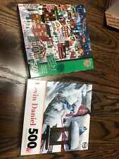 2 Holiday Puzzles-Master Pieces the north pole and kevin daniel blue cardinal