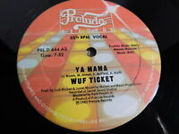 "Wuf Ticket – Ya Mama 12"" Single 1982  Hip Hop, Funk, Soul"