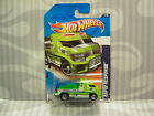 2011 HOTWHEELS ''HW CITY WORKS'' #177 = RAPID RESPONSE = GREEN ambulance