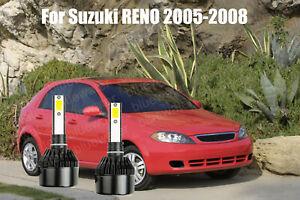 LED For Suzuki RENO 2005-2008 Headlight Kit H7 6000K White CREE Bulbs Low Beam