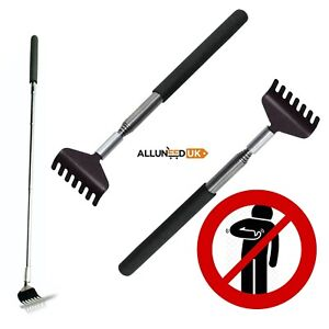 Extending Metal Back Scratcher Telescopic Adjustable to 67cm Massager Men Women