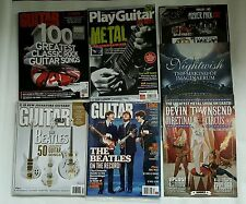 Guitar World Learn To Play Music Bands Lot Beatles Hammer poster pack Magazines