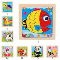 Wooden Animal Puzzle Educational Developmental Baby Kids Training Toy Gift