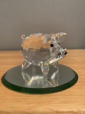 Swarovski Crystal Figurine Large Pig #7638-065 *Mint Condition *With Box *