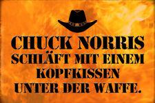 Chuck Norris Spruch 20 Blechschild Schild gewölbt Metal Tin Sign 20 x 30 cm