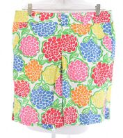 RARE Lilly Pulitzer Sz 8 Resort Fit Rainbow Floral Print Bermuda Shorts Women m