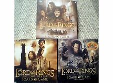 Lord of the Rings LOTR Set of 3 Board Games + Checkers Tin Sealed NEW!