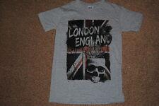 Londra England Union Jack Bandiera TESCHIO CORONA T SHIRT SMALL NUOVA PUNK GOTH METAL