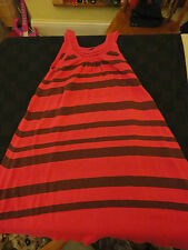 Magenta Pink & Brown Stripe Jumper Dress French Connection - S - 6 -  8 - 10