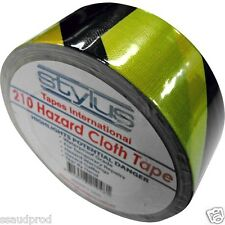 Nashua Stylus 210 Hazard Gaffa 5 Rolls 48mm x 25m Yellow Black Gaffer Tape