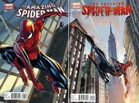 AMAZING SPIDER-MAN #1 SUPERIOR #31 J.SCOTT CAMPBELL VARIANT SET 2014 MARVEL