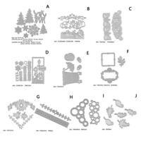 Blume Blätter Weihnachten Serie Stanzformen Schablone DIY Scrapbook Paper Craft