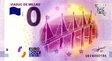 12 MILLAU Viaduc 2, N° de la 2ème liasse, 2018, Billet 0 € Souvenir