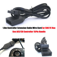 Controller Extension Cable for SNK FC Neo Geo AES/CD Controller 15Pin Handle