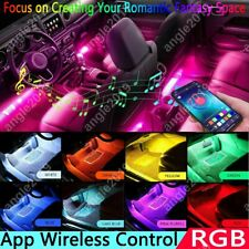 Led App Control Car Interior Floor Neon Colorful Rgb Light Strip Atmosphere Lamp