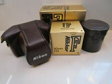Brand New Vintage Nikon F3 High Eyepoint 35mm SRL Camera 50mm f/1.4 Lens & Cases