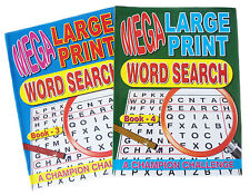 2 Mega Word Search Puzzle Books 3&4 Large Print Book 129 A4 Puzzles With Answers