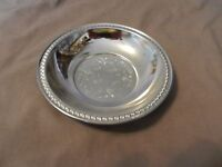 Vintage Silverplated Irwinware Small Serving Bowl, Engraved Design (M)