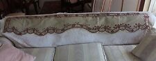 Antique 18thC French Silk Hand Embroidered Valance~Museum Deaccessioned