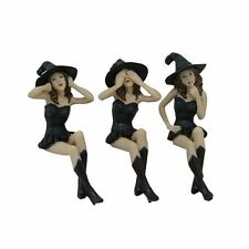 "See, Hear, Speak No Evil Witches Shelf Sitters Statue Figurine, 5"" H"