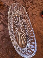 Waterford Cut Crystal Oval Relish Serving Dish 10.5""