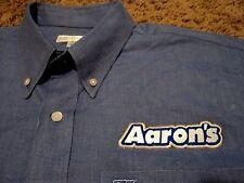 Men's AARON'S RENTS Furniture Rental Long Sleeve Oxford Shirt XL Cutter & Buck