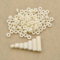 100 Pcs M3 Screws Spacer Washer ABS Plastic Hollow Standoff Insulation Supplies